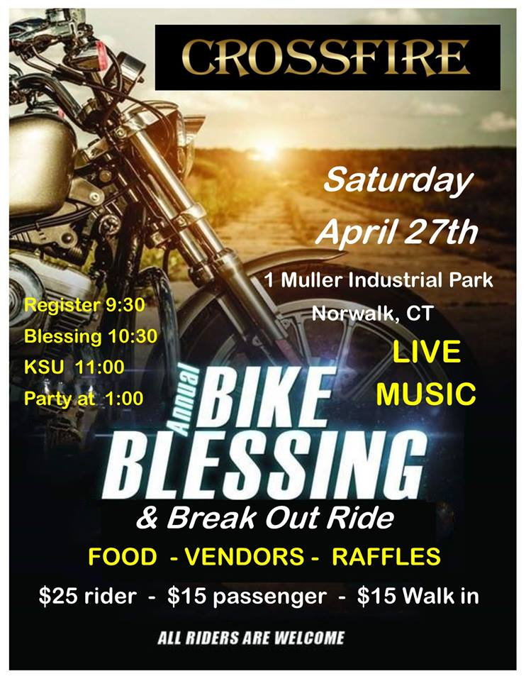 CROSSFIRE BIKE BLESSING • NORWALK, CT   Deadly Grounds Coffee